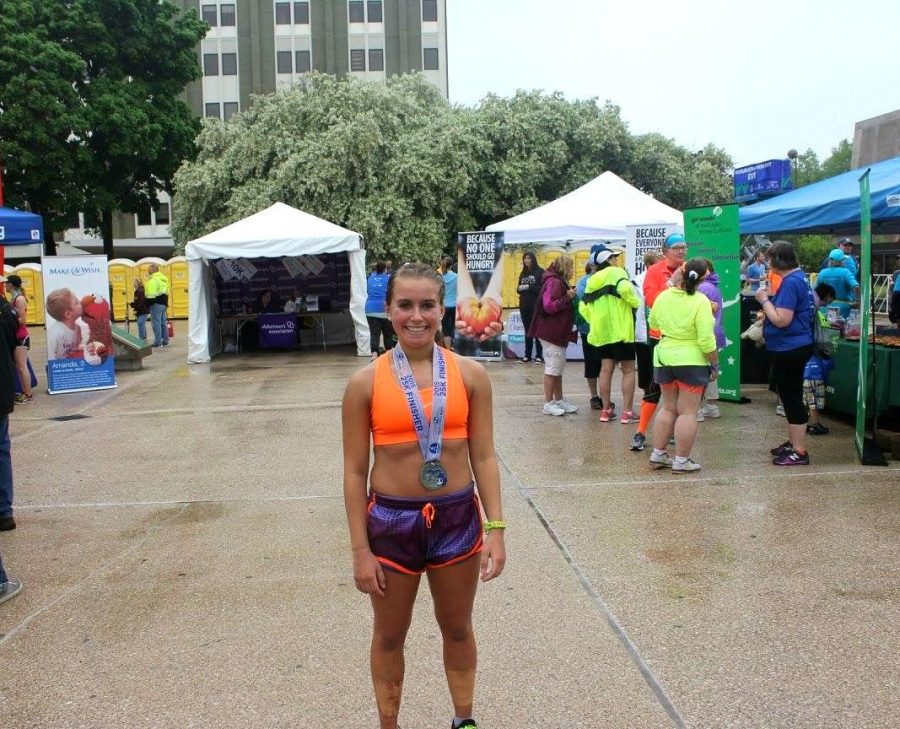 Racing Towards her Goal: Step by Step