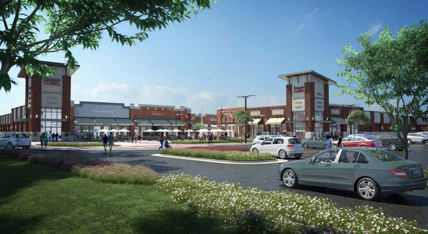 The new Tanger Outlets is located in Byron Center.