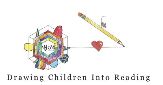 The logo for Project 64, or Drawing Children into Reading, which has been implemented at elementary schools in Forest Hills.