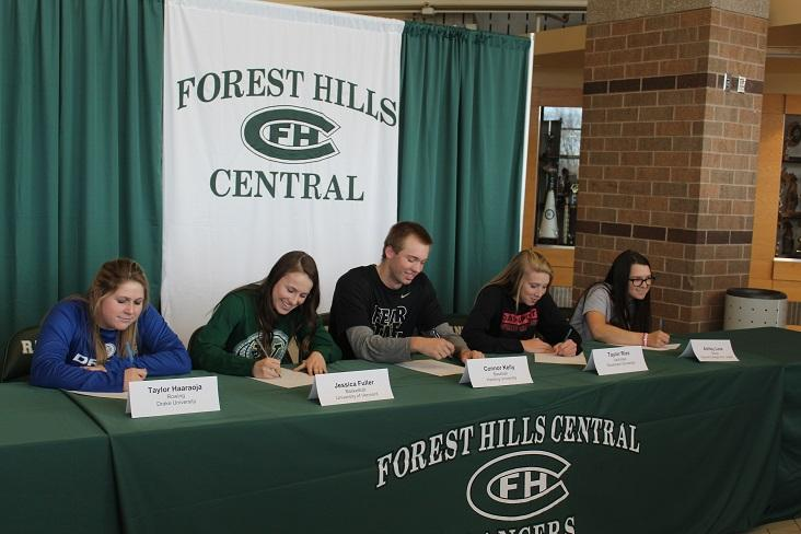 For the Love of the Game: Five FHC Seniors Sign to play Collegiate Sports