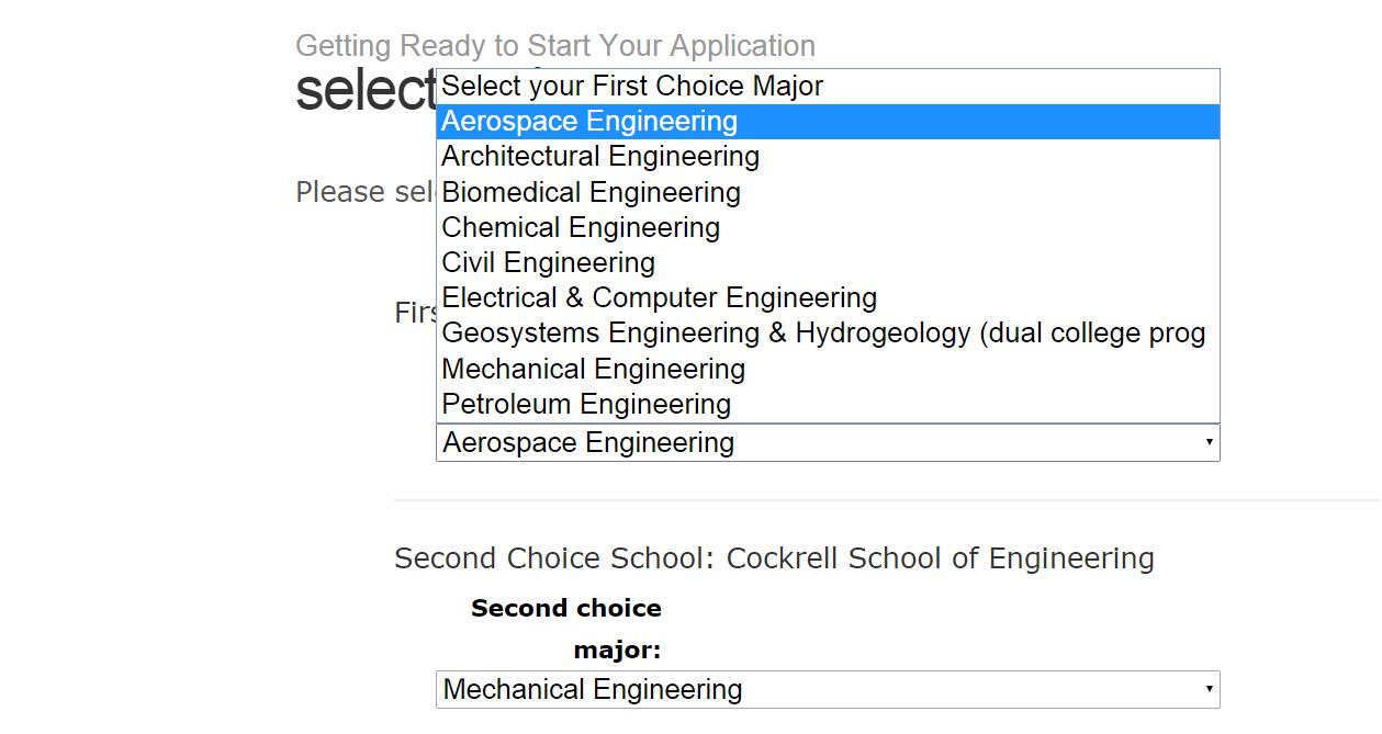 The Major Choice