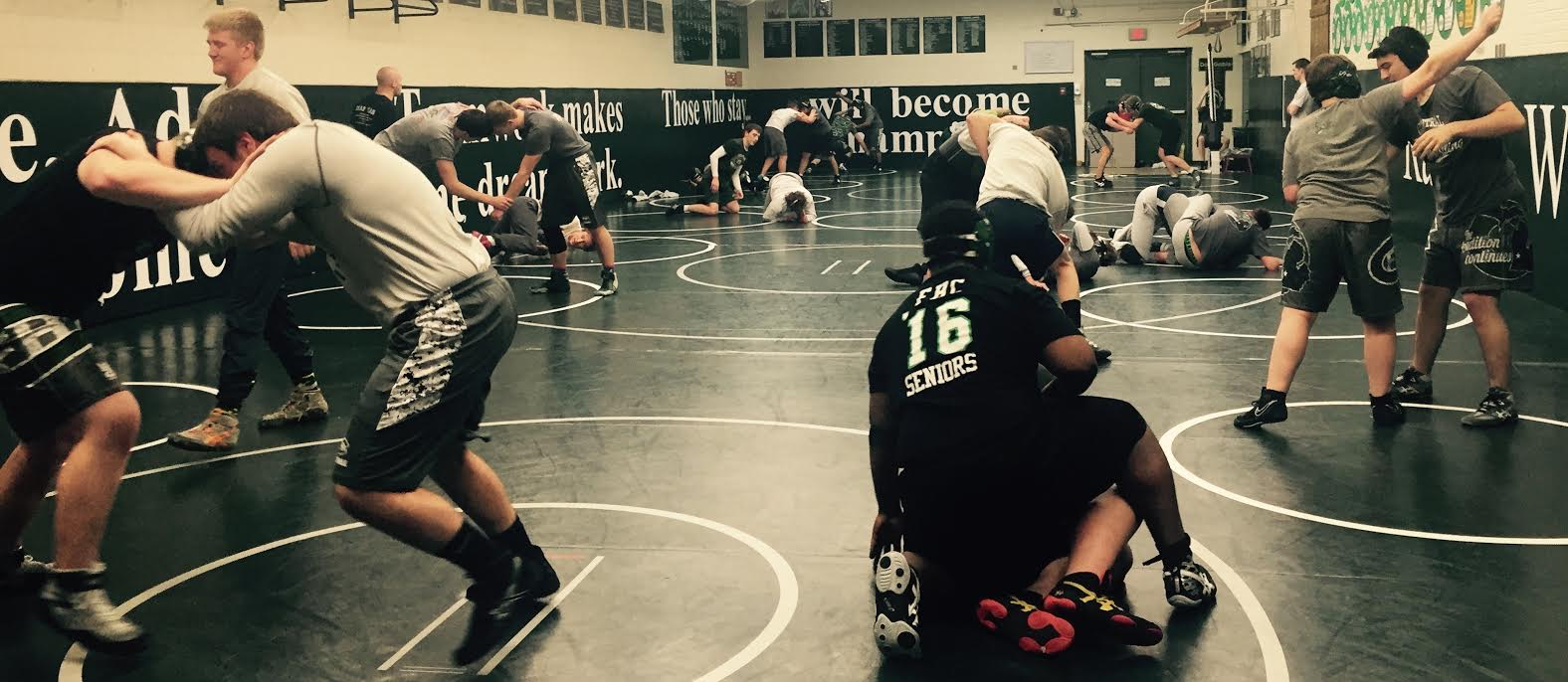 Varsity B wrestlers shut down competition at Kenowa Hills