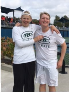 FHC Varsity Tennis Second Doubles Does Their Part in Runner-Up Effort