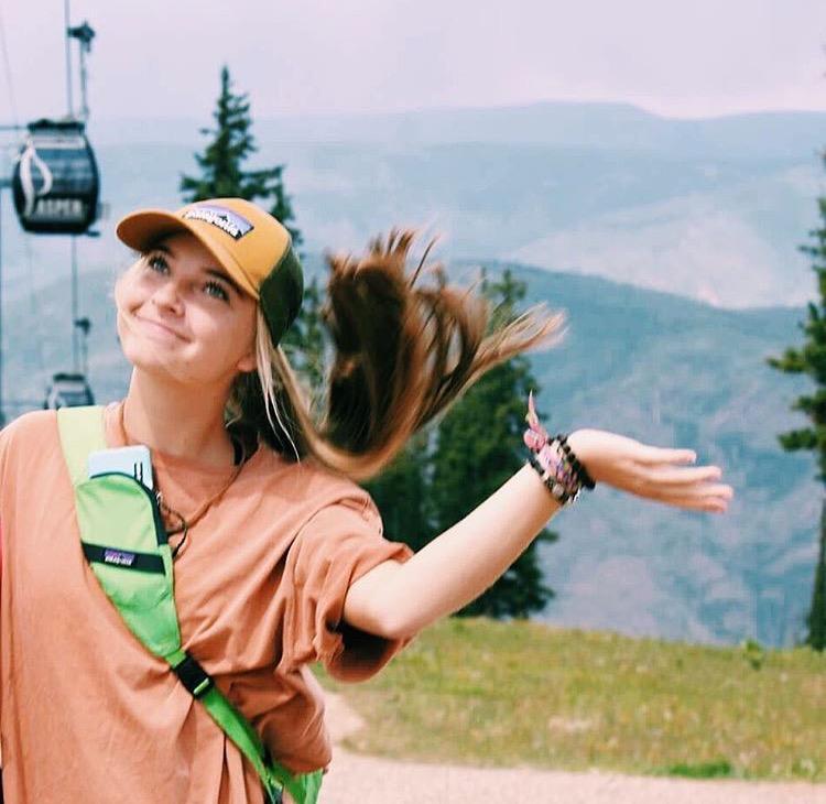 Sophomore student Lyndsay Werkema adventures throughout the U.S