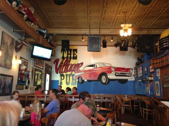 The Village Pub offers friendly service and a warm atmosphere