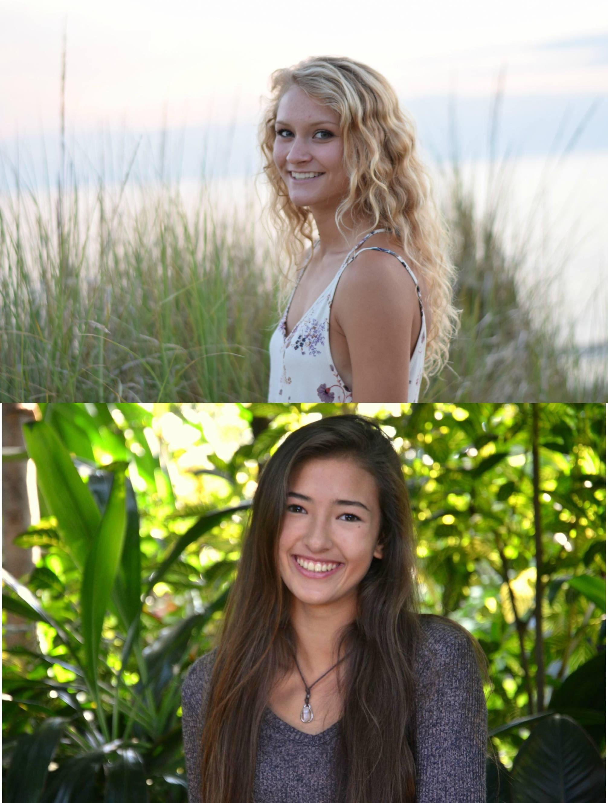 Above: Abby Deweerd; Below: Eryn Ho