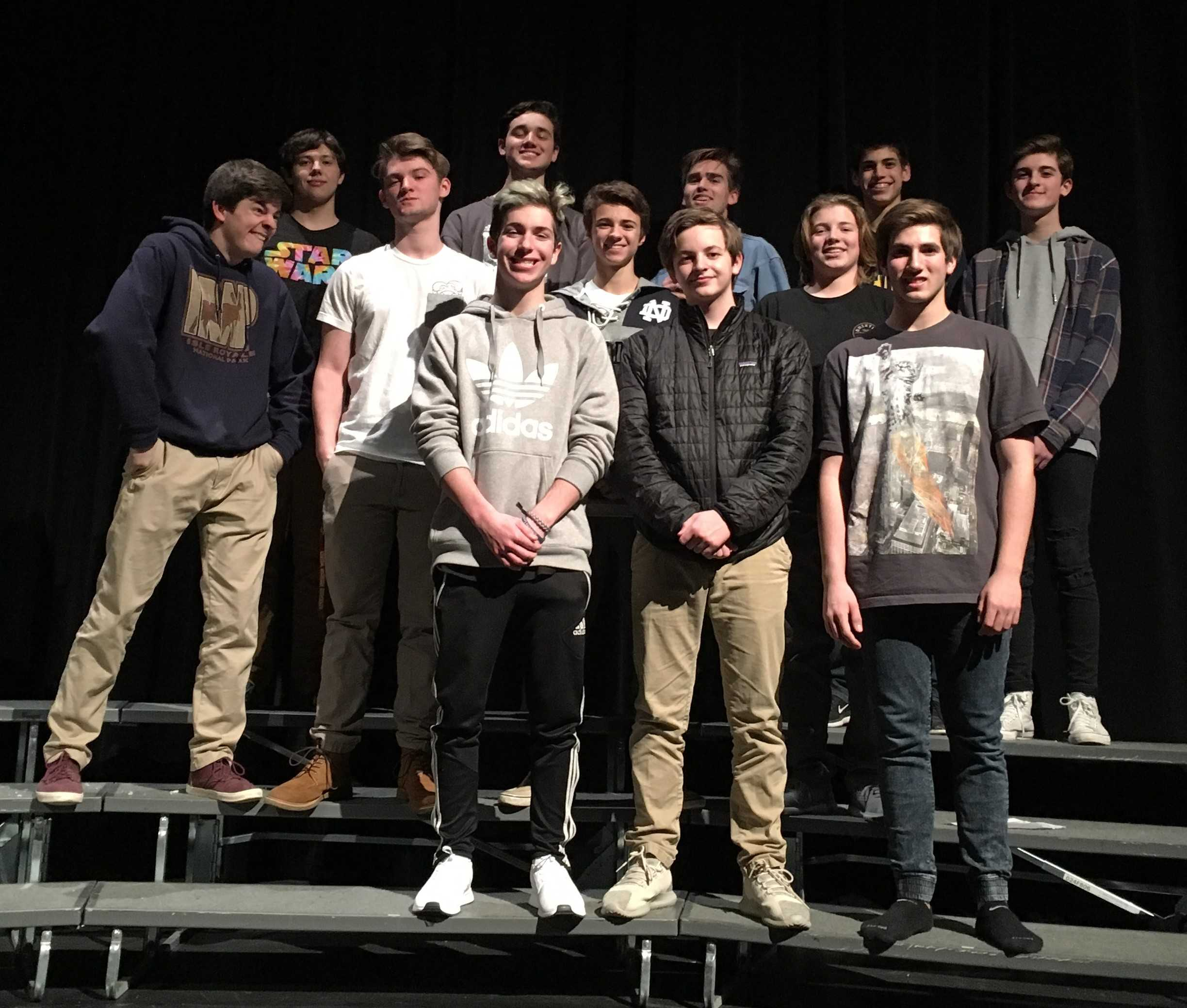 Boys' musical ensemble is an important aspect of The Little Shop of Horrors