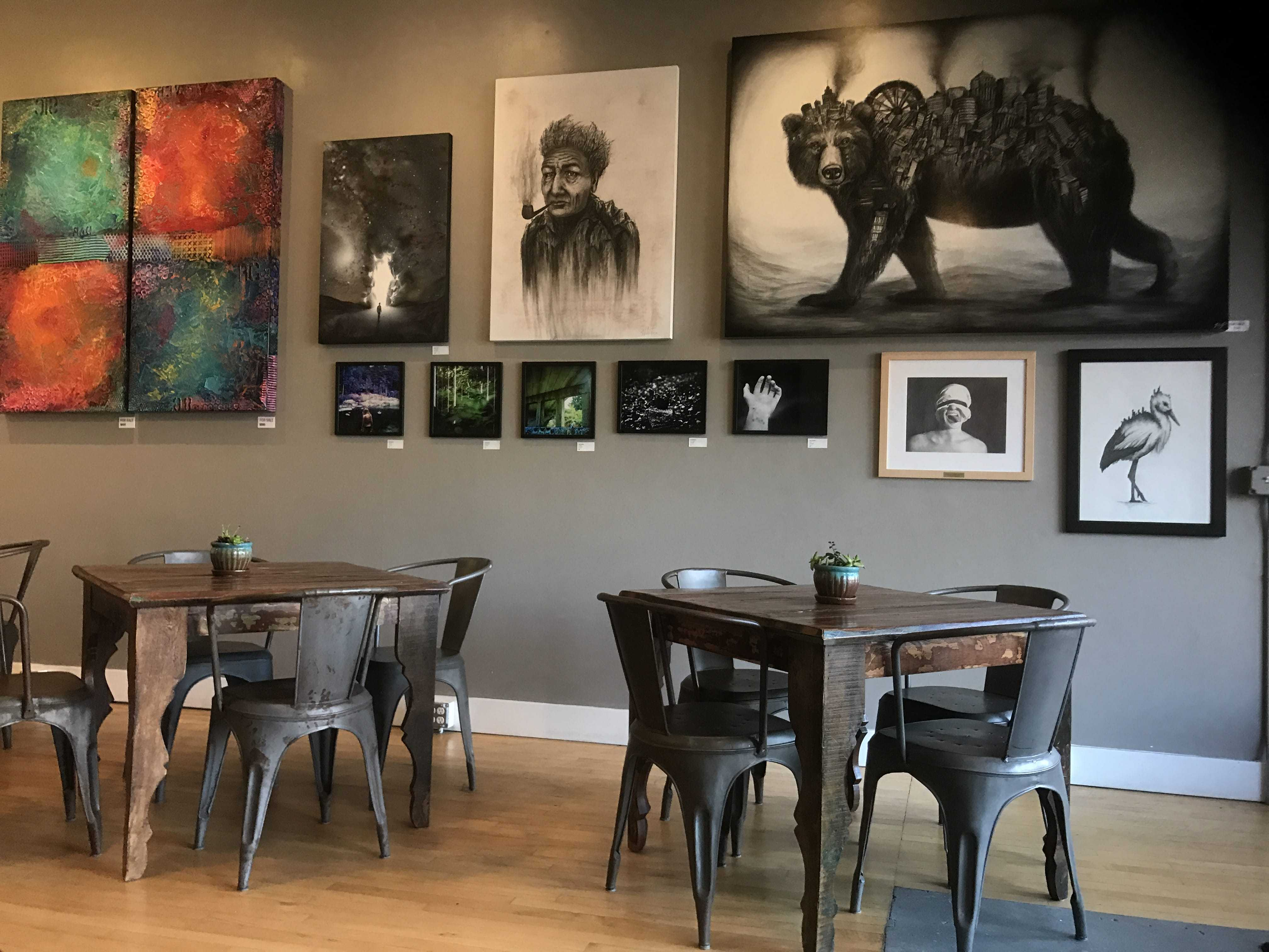 PaLatte Coffee and Art offers an eclectic blend of family-made artwork and tasty drinks