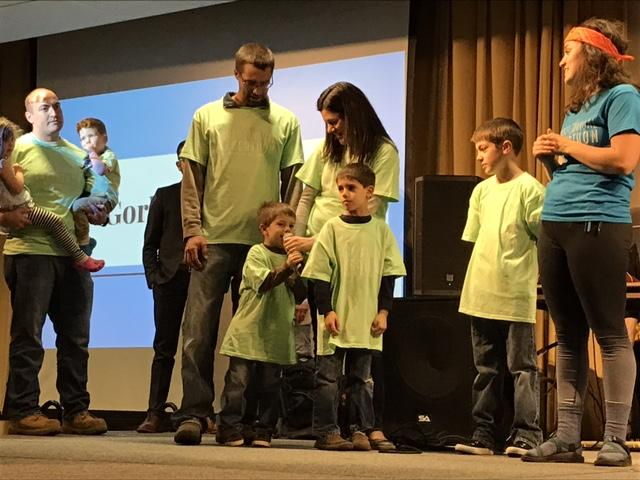 Lisa Penninga and her son, Lincoln, have gone through many hardships and were honored at GVSU fundraiser