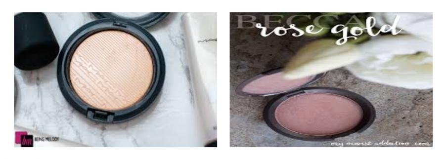 MAC+Cosmetics+%22Double+Gleam%22+vs.+Becca+Cosmetics+%22Rose+Gold%22