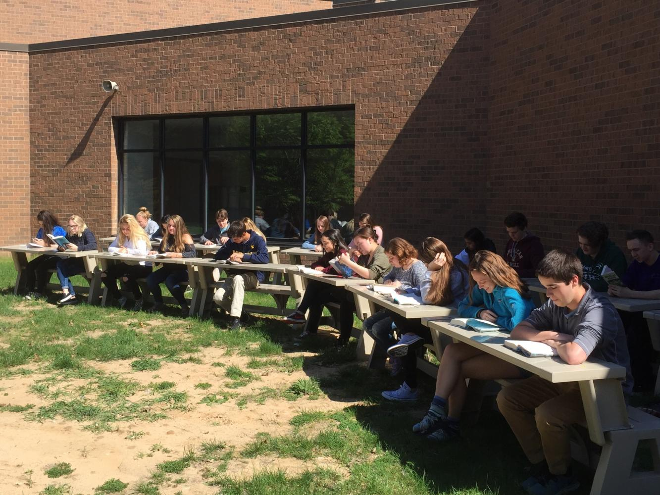 English teacher Ken George creates an outdoor classroom