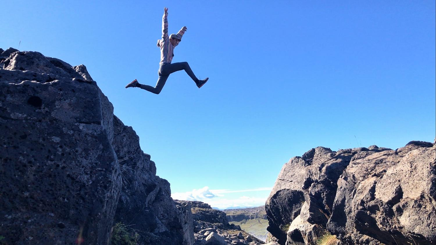 Ryan Talbot shows off his parkour skills in the western United States