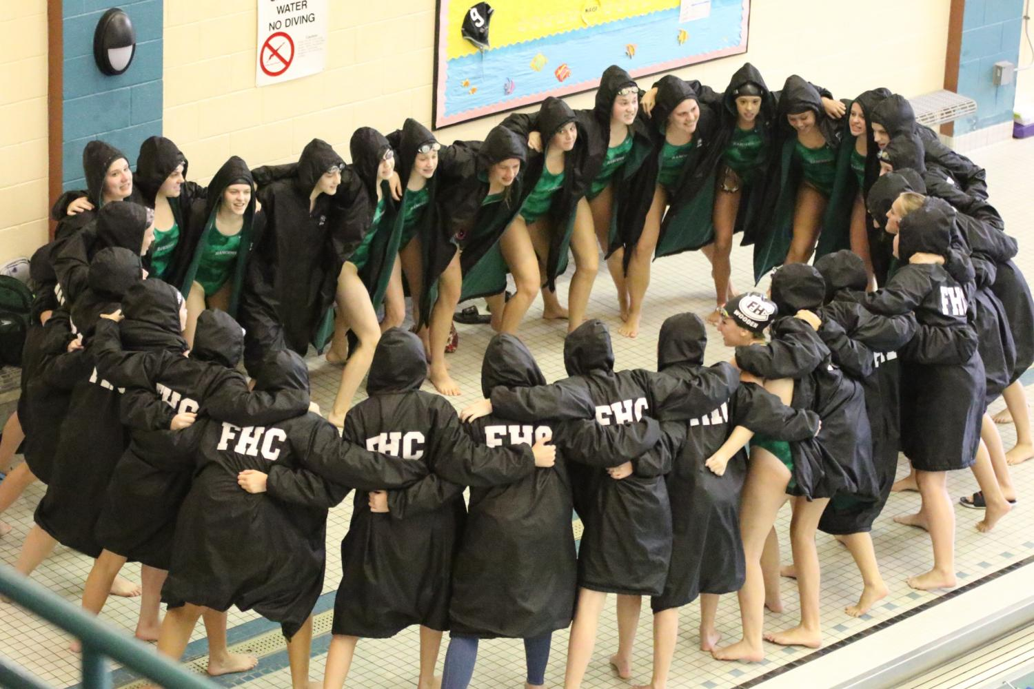Girls swim and dive continues success at FH Invitational
