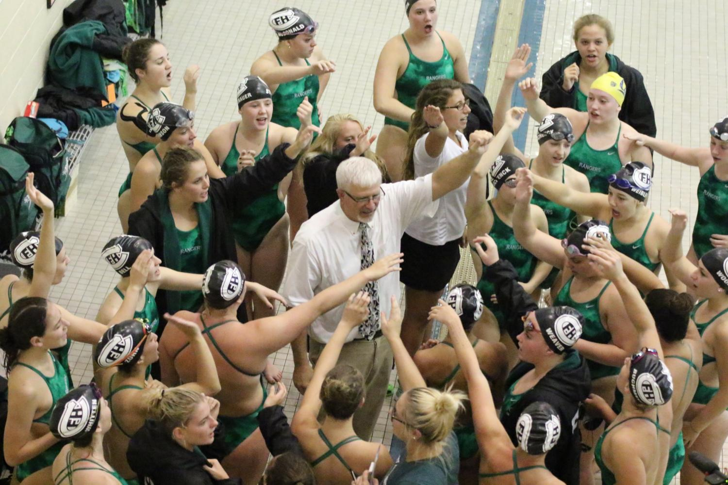 Girls swim and dive team secures a key win over GR Christian
