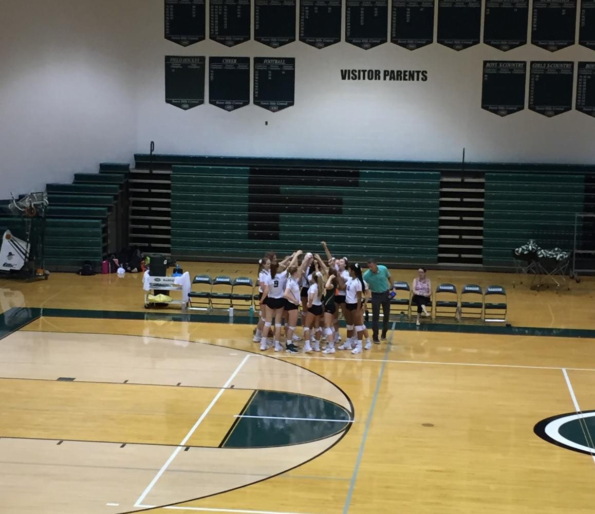Varsity volleyball gets its first conference win 3-0 over Greenville