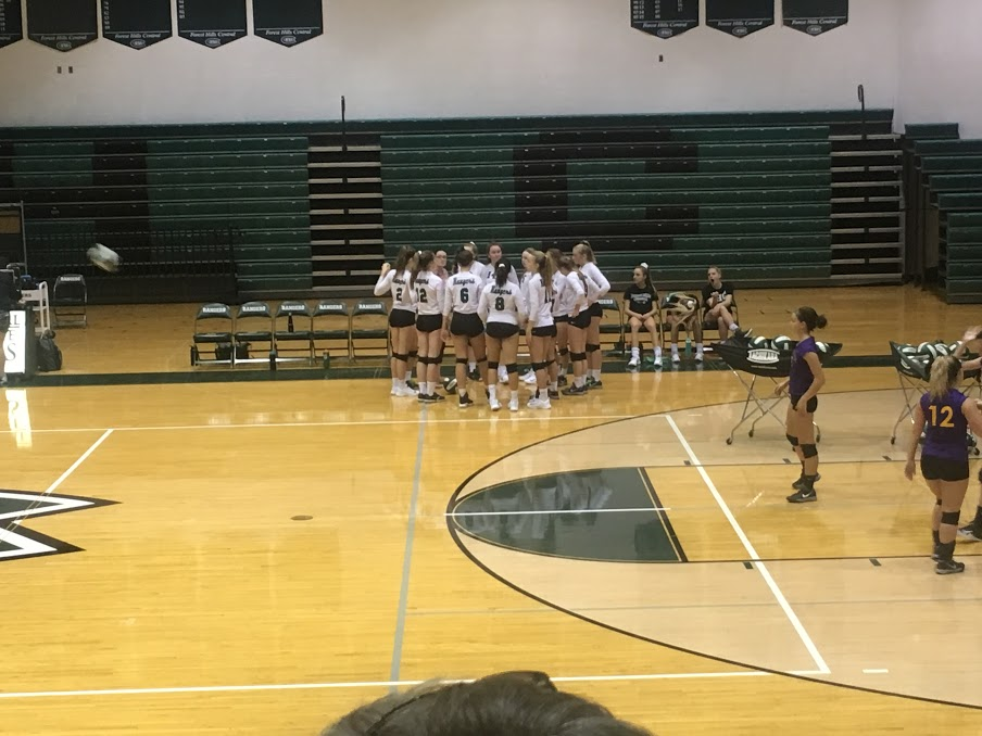 JV volleyball takes the win against Greenville