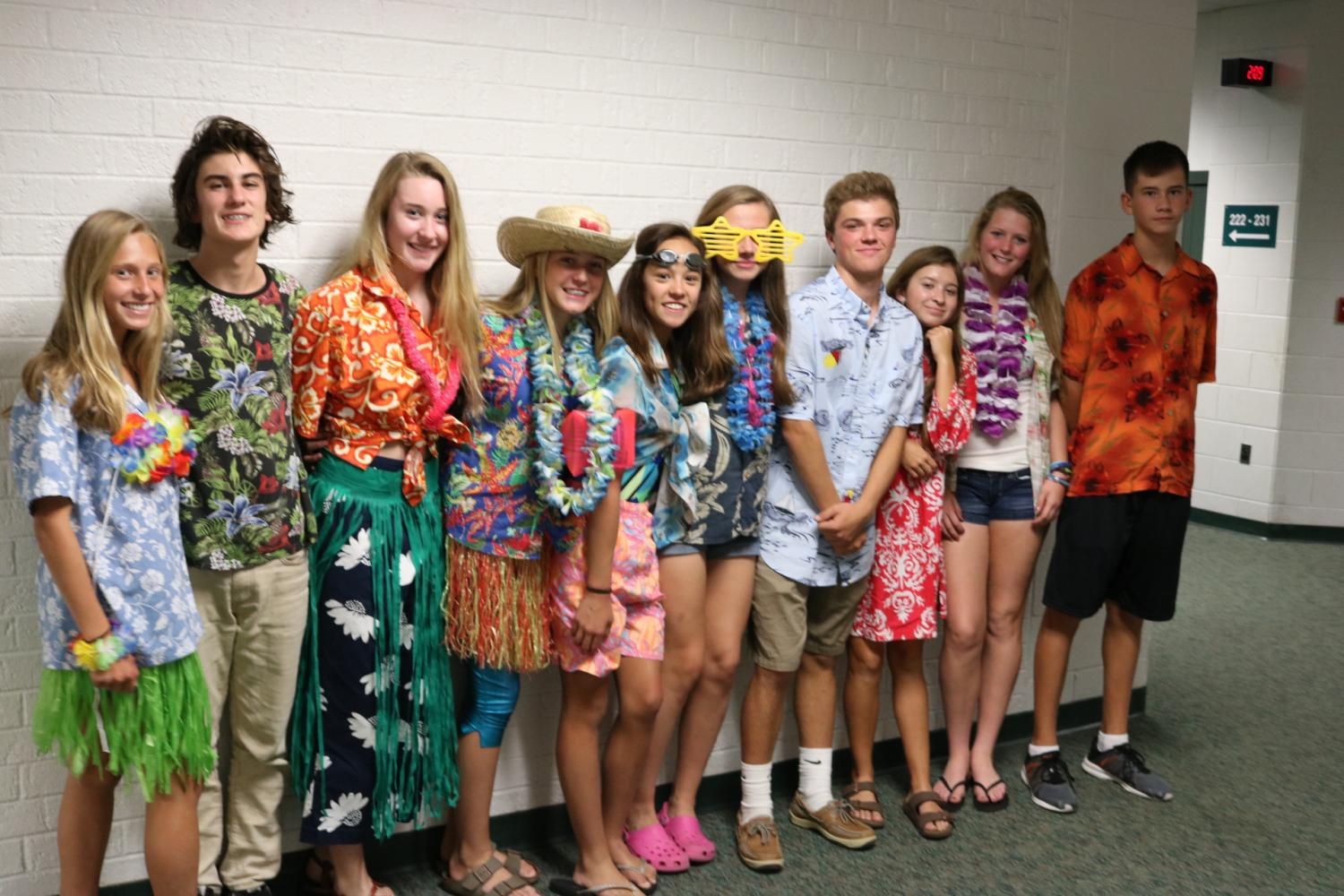 Homecoming Spirit Week 2017 Day 2: Beach Day