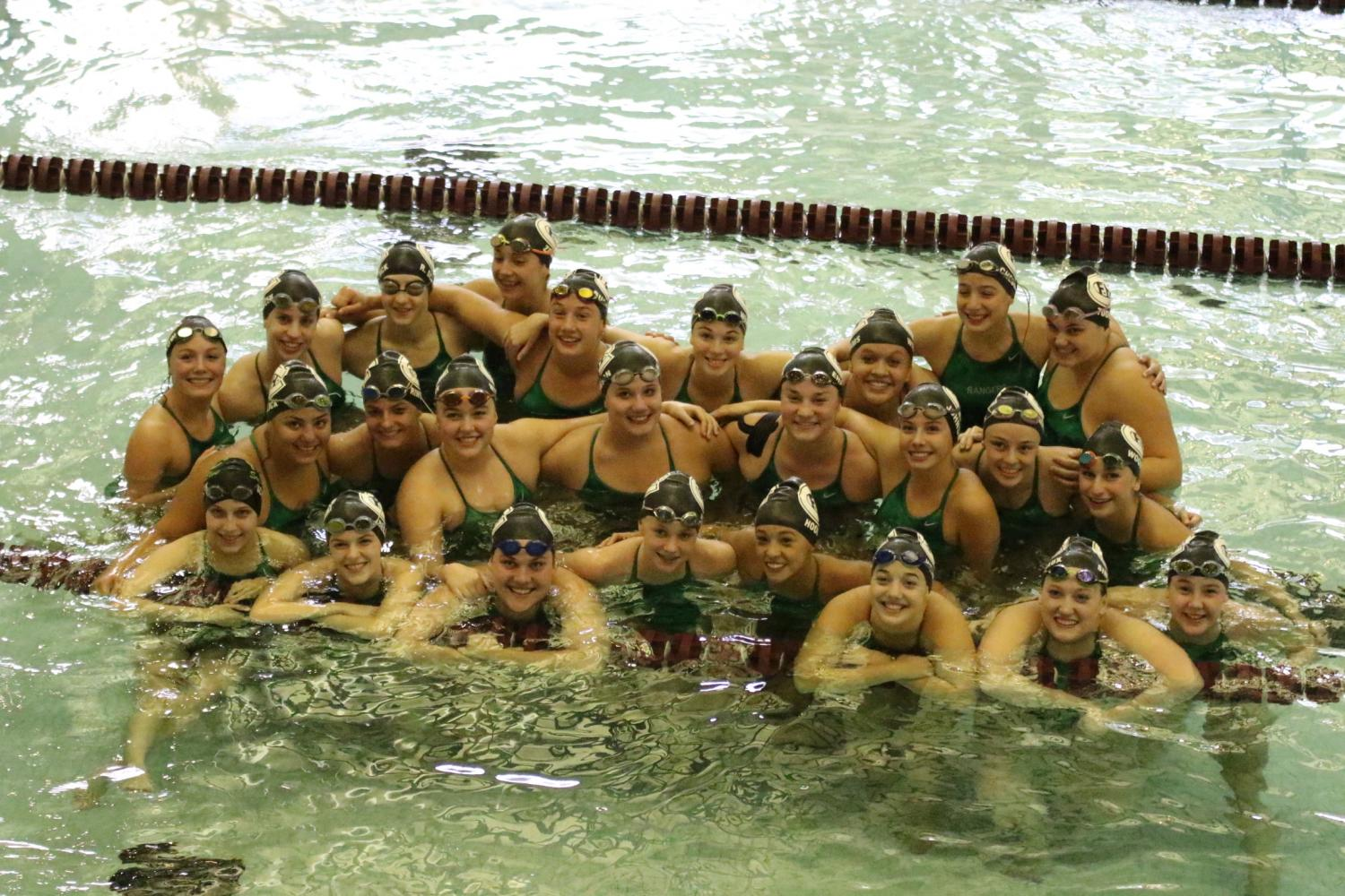 Girls swim and dive team has 11 members qualify for and compete in MISCA meet