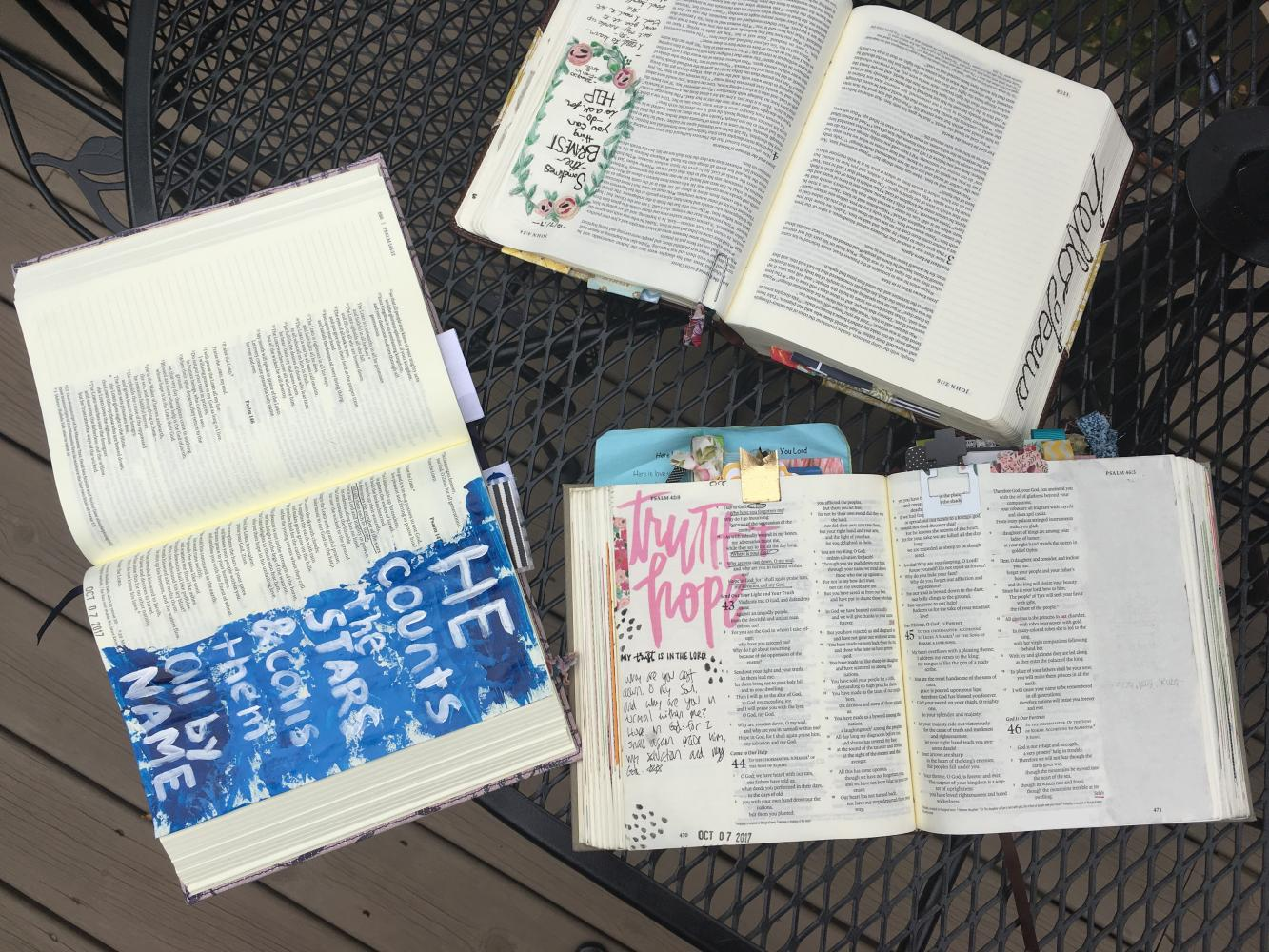 Abby Burr finds talent and growth through Bible journaling