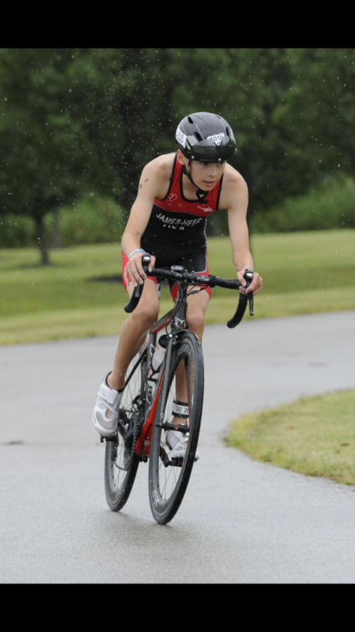 Freshman Kyle James-Heer becomes the 2017 USA Triathlon Junior National Champion