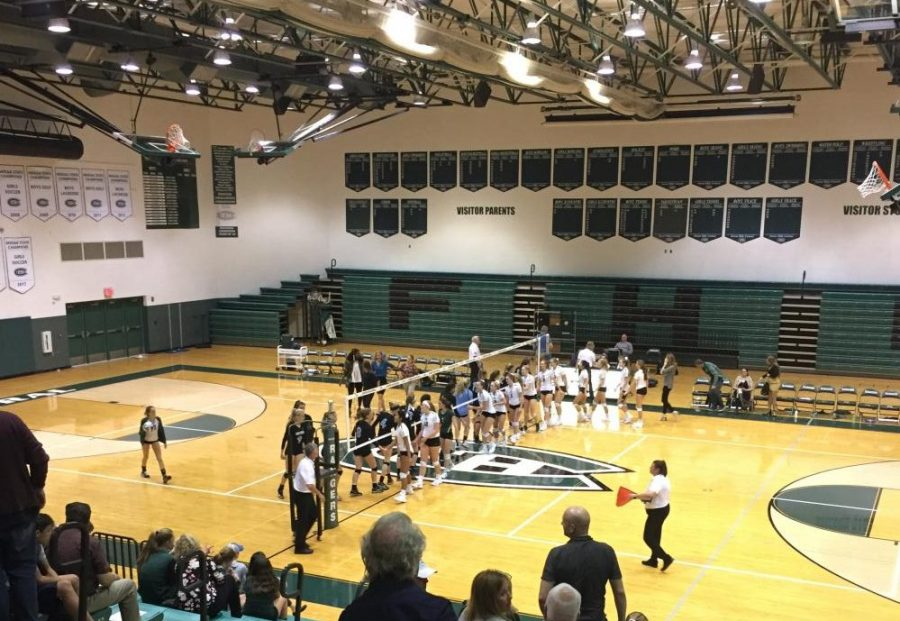 Varsity volleyball is defeated by rival FHN 3-0