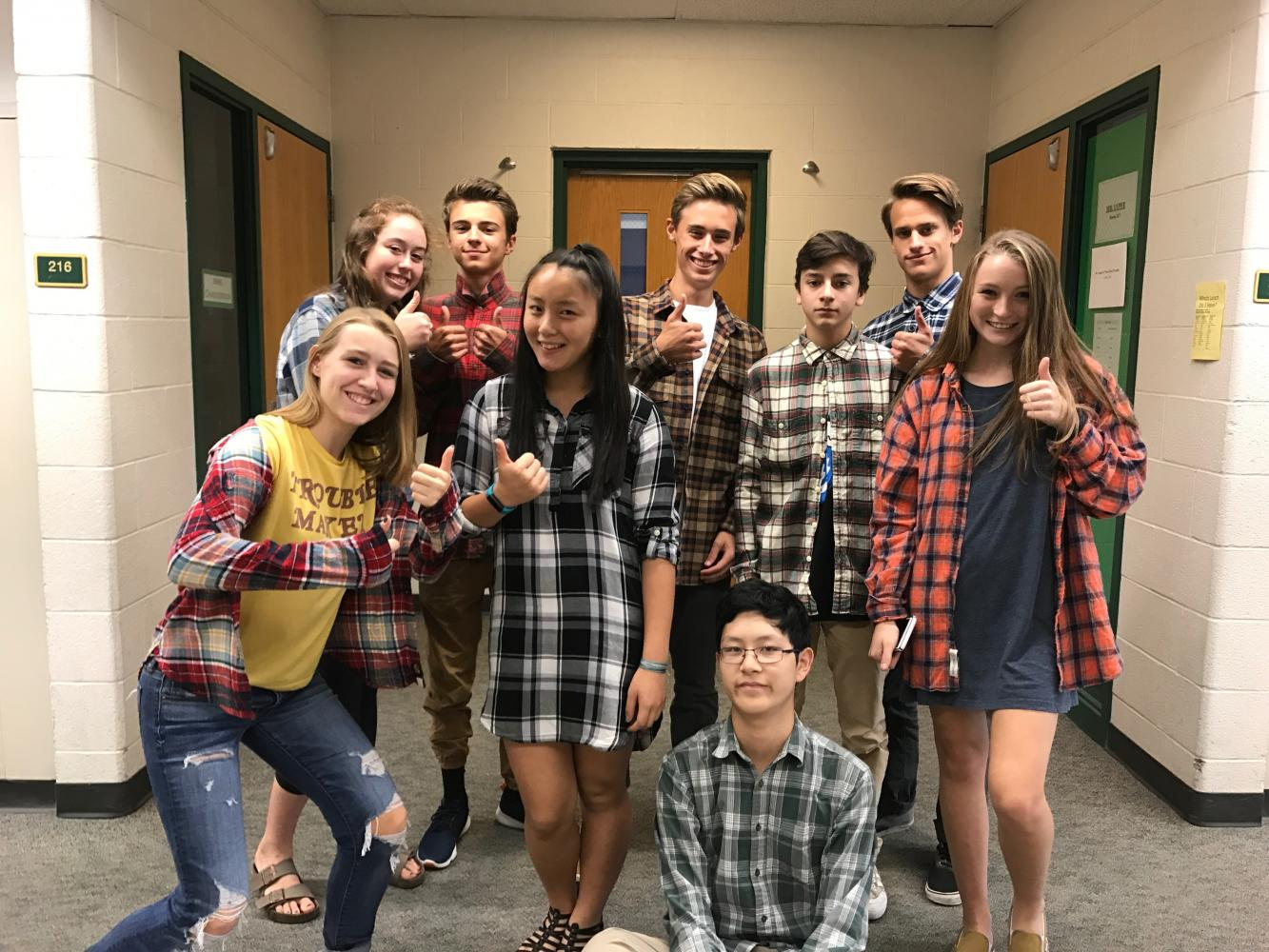 Homecoming Spirit Week 2017 Day 4: Flannel Day
