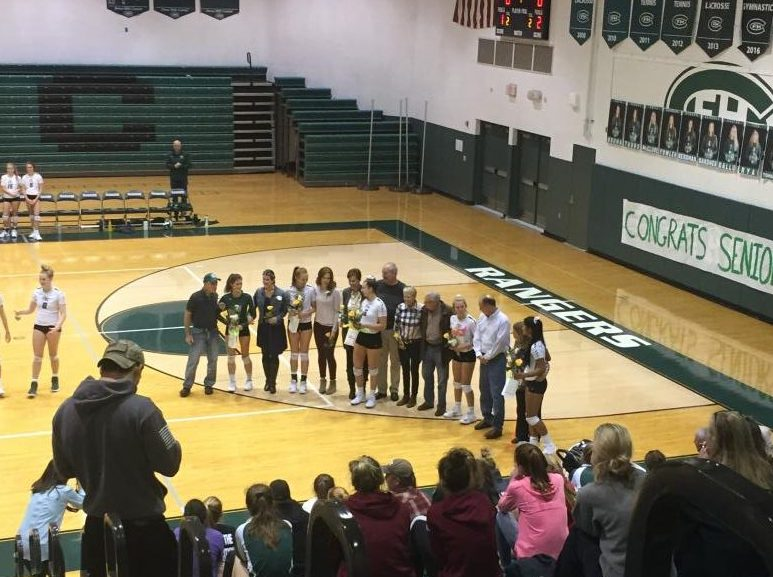 Varsity volleyball sweeps Ottawa Hills on senior night