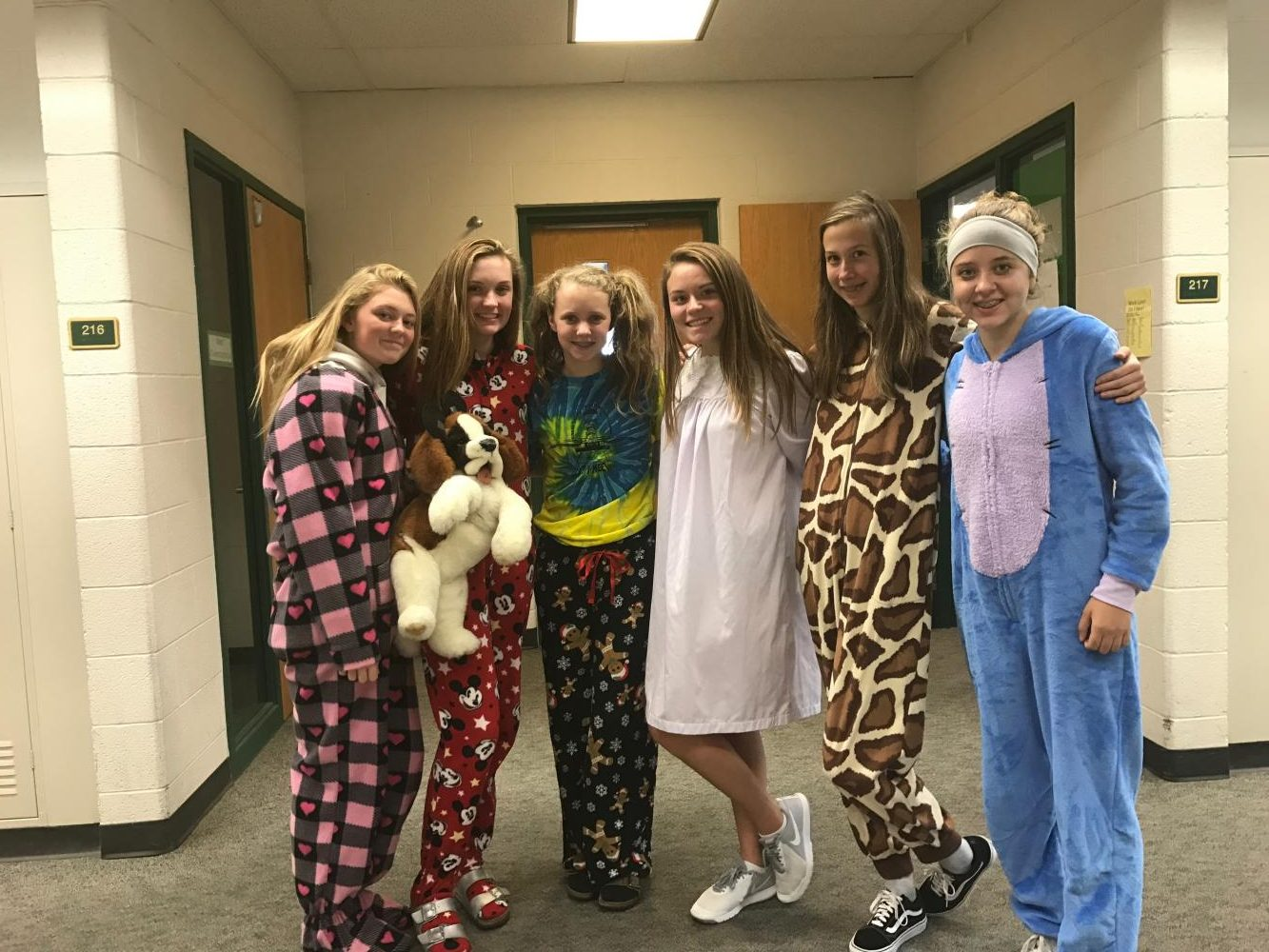 Homecoming Spirit Week 2017 Day 1: Pajama Day