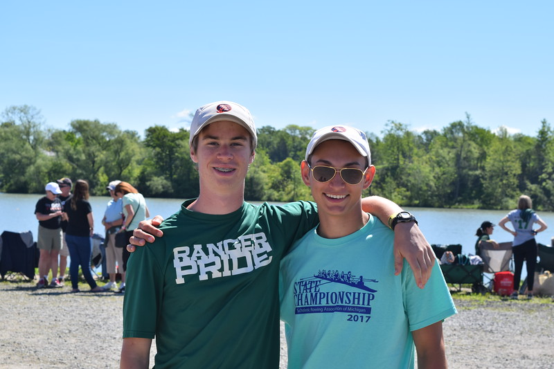 Senior Evan Purcell spends his senior year running and rowing