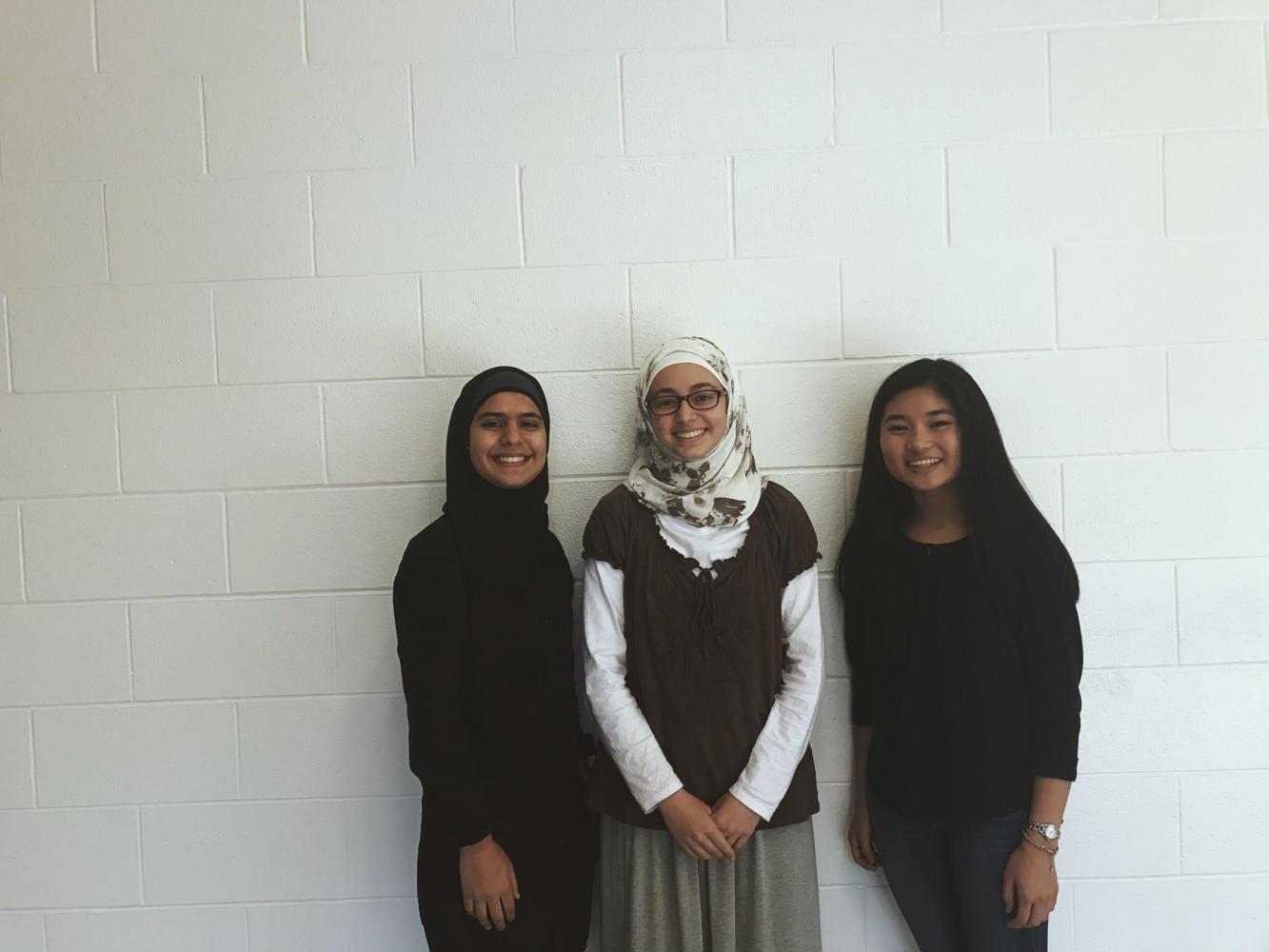 Juniors Yusra Sannah, Ayah Ayesh, and Caitlin Benitez bring HOSA to FHC