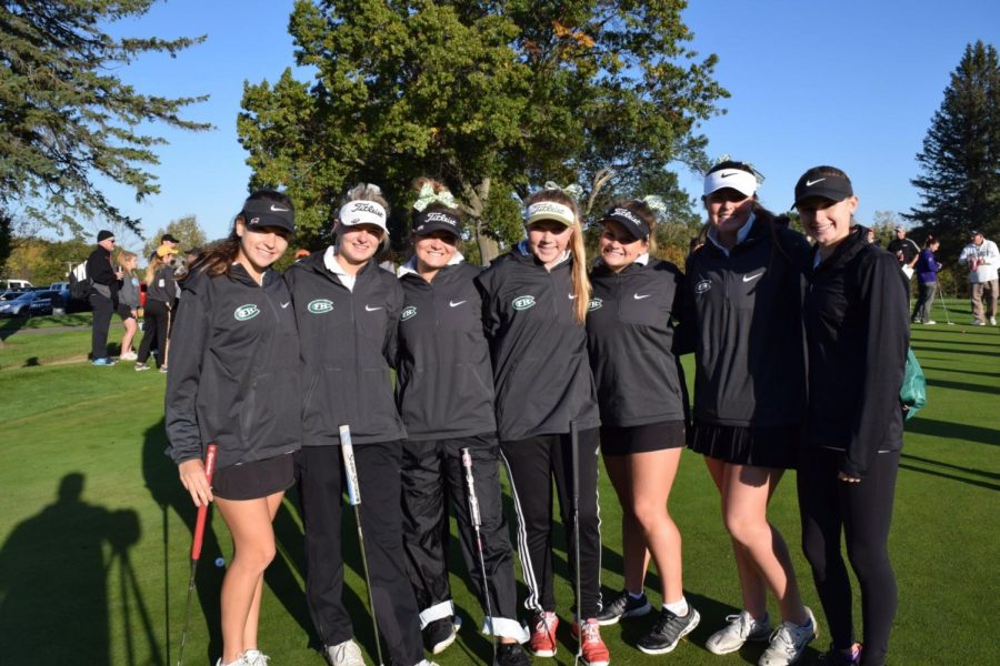 Girls varsity golf finishes strong at states and has a great season