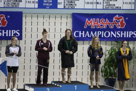 State Champion Colleen Kramer leads FHC dive team to #1 at State Meet