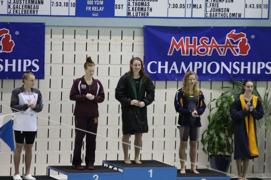 Five+time+State+Champion+Felicity+Buchmaier+leads+FHC+swim+team+to+5th+place+in+State+Meet