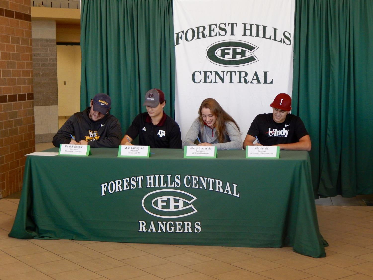 FHC Student Athlete Signing Day: November 8th 2017