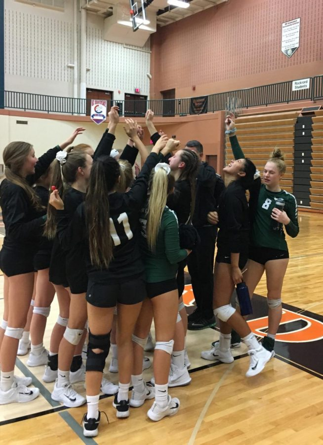 Varsity volleyball's season ends against the Rockford Rams