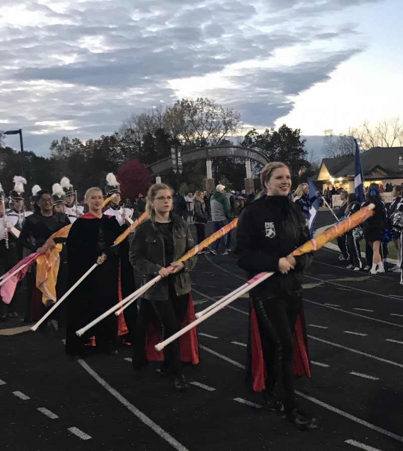 Color Guard is a hardworking and tight-knit family