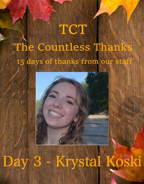 TCT's The Countless Thanks: Day 3 - Krystal Koski