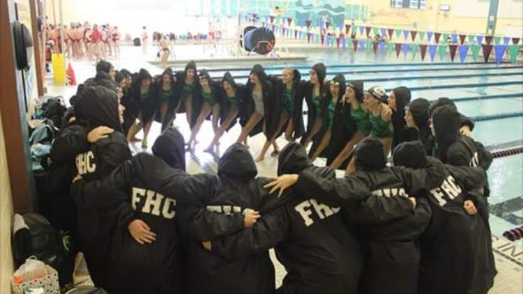 Girls swim and dive takes second place in Conference Meet with five State-qualifiers