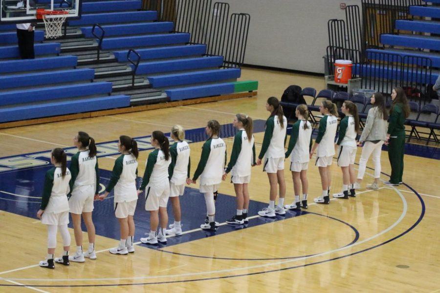 Girls varsity basketball secures third straight win, defeats Wayland 50-44