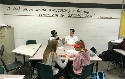 ASL students participate in deaf-blind challenges