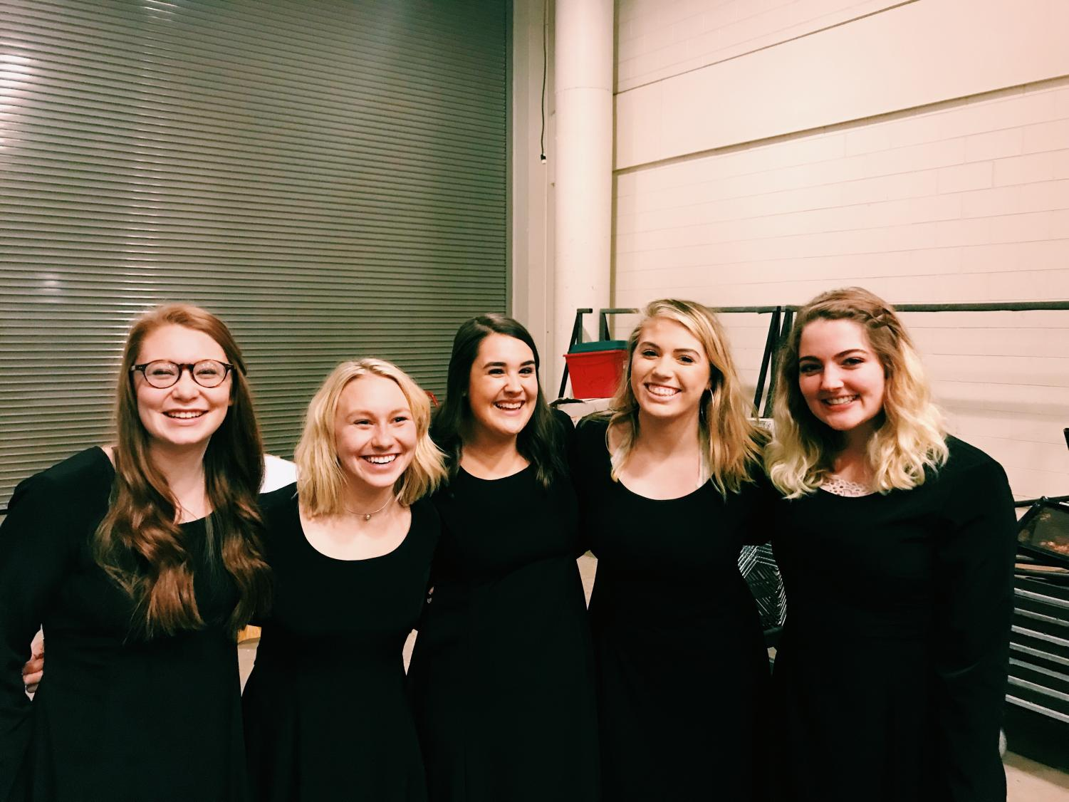 The FHC girls in the Grand Rapids Symphony Youth Choir
