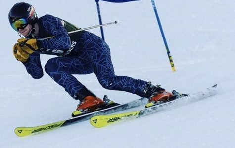 Boys varsity ski team places 8th in GS and 7th in SL races