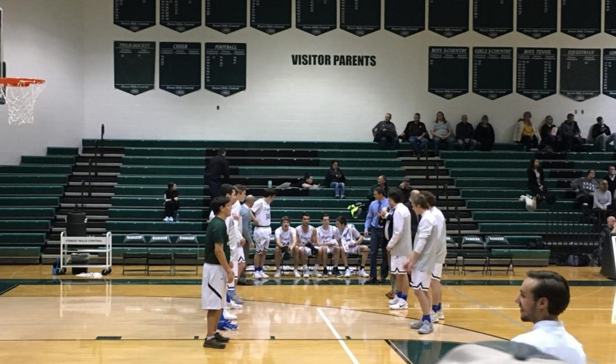 Boys varsity basketball improves to 3-0 in conference with third consecutive 20 point win