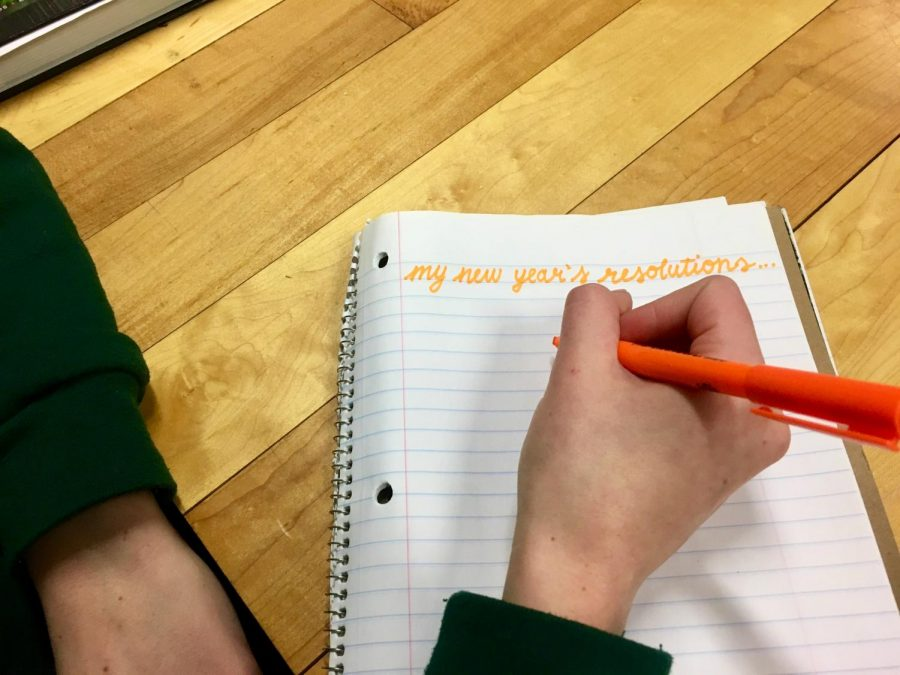 Students and teachers set New Year's Resolutions to promote improvement