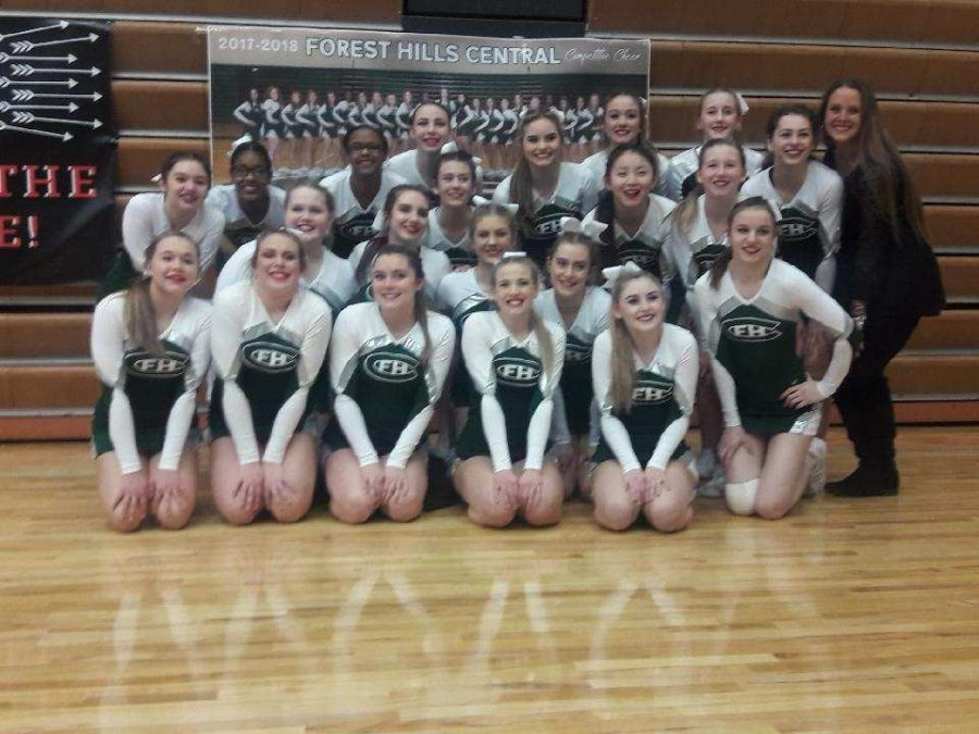 Competitive cheer falls .7 points behind Rockford to place third