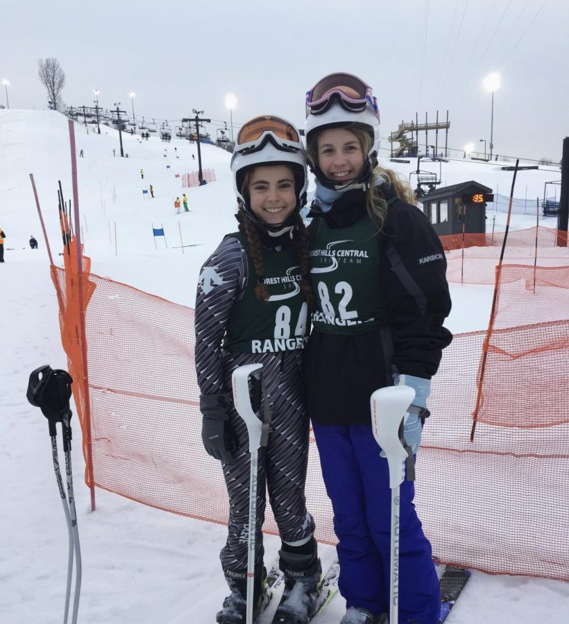 Girls varsity ski team takes home third place at its first race
