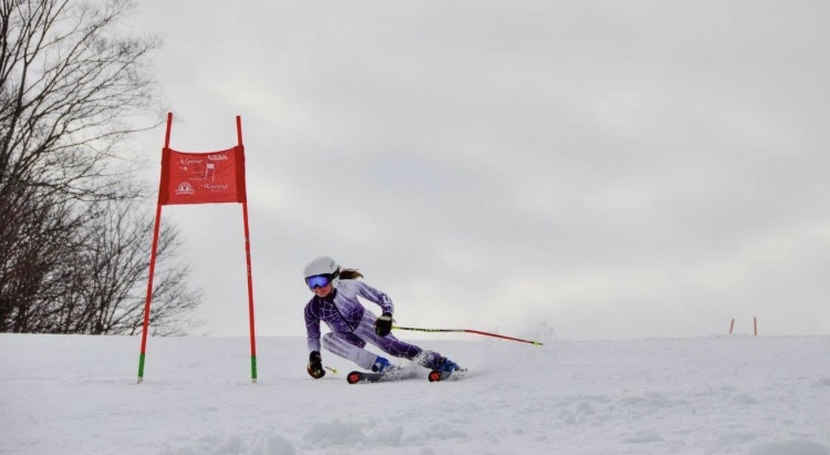 Girls varsity ski places second and fourth at the Caberfae races