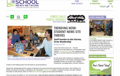 Check out the School News Network's article on The Central Trend!
