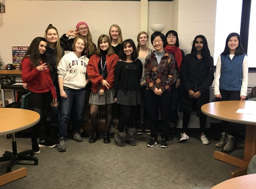 Senior students Leyla Erhan and Evelyn Pae start the new Poetry Club