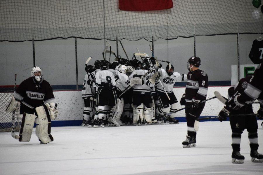 Hockey picks up a massive overtime win over Grandville 3-2 on Senior Night